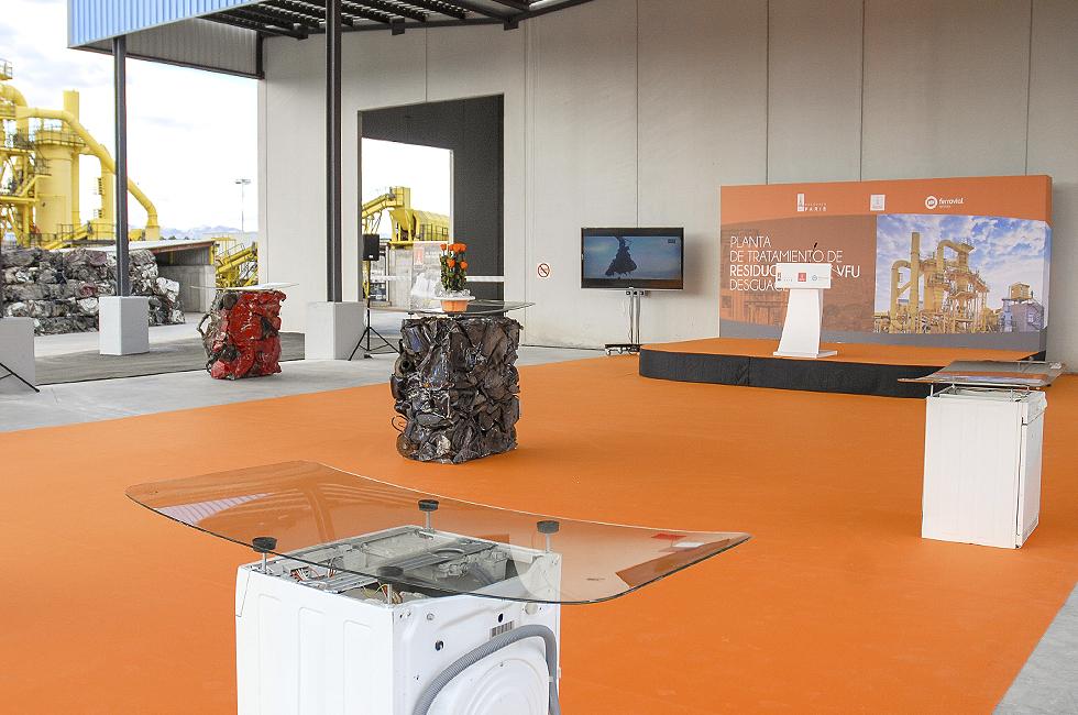 Escenografía-Presentación-Inauguración-Planta-de-Residuos-Desguace-Paris